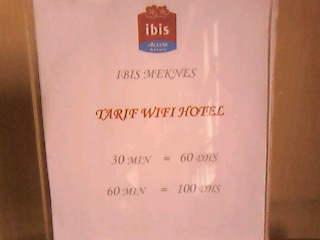 Prix wifi Ibis