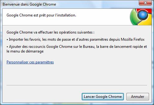 accès google chrome impossible